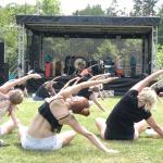 zajęcia jogi w plenerze Muscoyoga Ohana