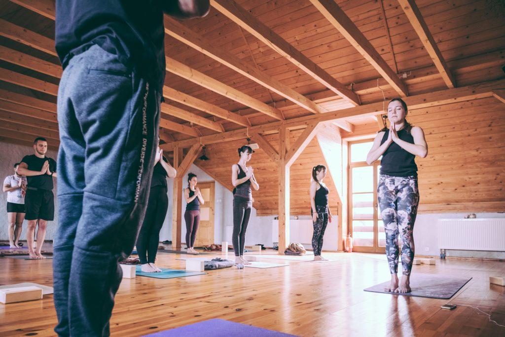 my na zajęciach jogi dla dorosłych