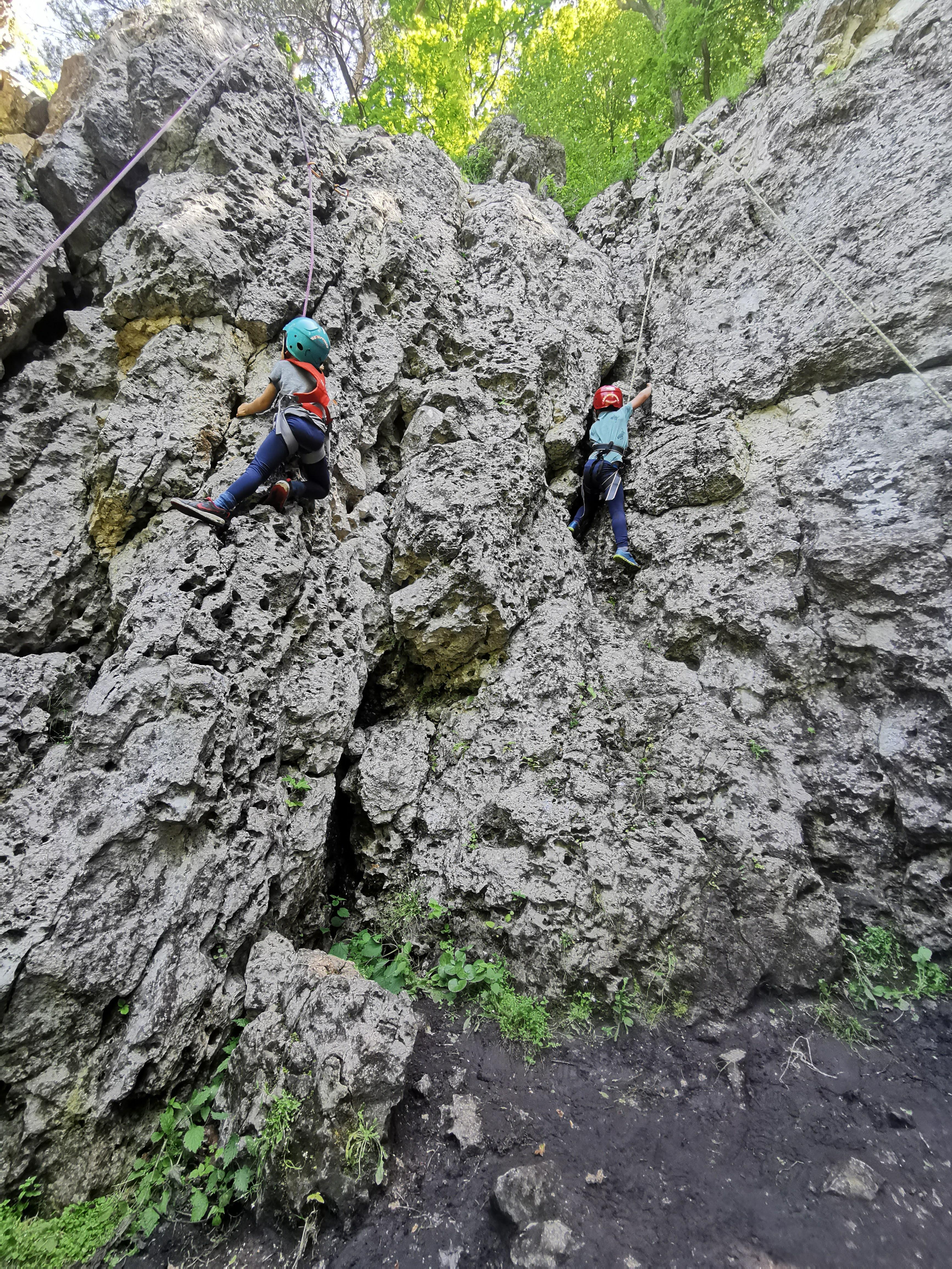 wspinaczka skałkowa dla dzieci Ohana